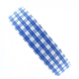 Adhesive ribbon tape, gingham - blue