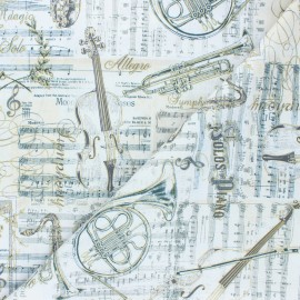 Tissu coton Timeless Treasures - Virtuoso - écru x 10cm