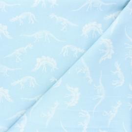 Dear Stella cotton fabric You rock - light blue Fossils x 10cm