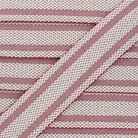 Elastique plat lurex Sinaloa 50mm - rouge x 50cm
