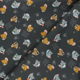 Cotton Camelot Fabrics - dark grey Tom and Jerry x 10cm