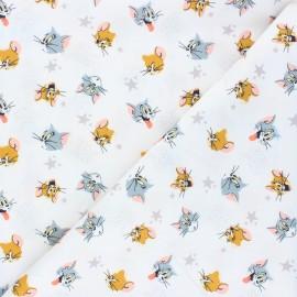 Tissu coton Camelot Fabrics Tom and Jerry - écru x 10cm