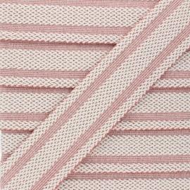Elastique plat lurex Sinaloa 50mm - rose x 50cm