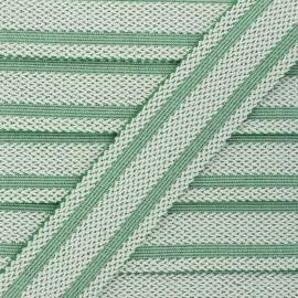 Elastique plat lurex Sinaloa 50mm - vert x 50cm