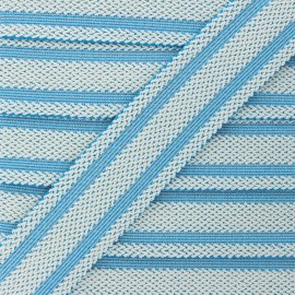 Elastique plat lurex Sinaloa 50mm - bleu x 50cm