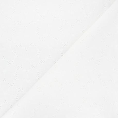 Openwork cotton voile fabric - off-white Juline x 10cm