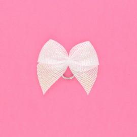Lurex sewing knot - white Noda