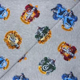 Tissu jersey Harry Potter houses - gris chiné x 10cm