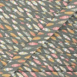 20 mm cotton bias binding - khaki green Miwok x 1m