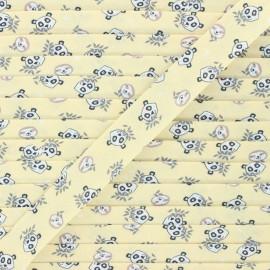20 mm cotton bias binding - pale yellow Niwoya x 1m