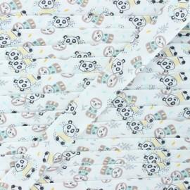 Biais coton Woni 20 mm - blanc x 1m