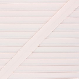 Biais coton bio 20 mm - rose dragée x 1m