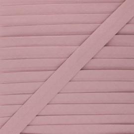 Biais coton bio 20 mm - bois de rose x 1m