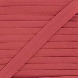 20 mm organic bias binding - brick red x 1m
