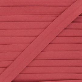 Biais coton bio 20 mm - brique x 1m