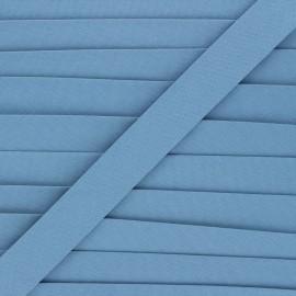 20 mm organic bias binding - swell blue x 1m