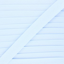 20 mm organic bias binding - dragee blue x 1m