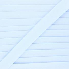 Biais coton bio 20 mm - bleu dragée x 1m