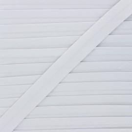 Biais coton bio 20 mm - gris perle x 1m
