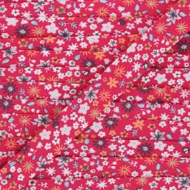 20 mm organic cotton bias binding - fuchsia Blossom x 1m