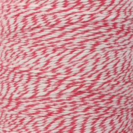 Food contact approved 1mm linen twine - red/white