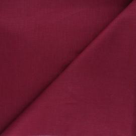 Tissu lin uni Dolce - bordeaux x 10 cm