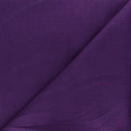 Tissu lin uni Dolce - violet foncé x 10 cm