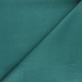 Plain linen fabric - sarcelle Dolce x 10 cm