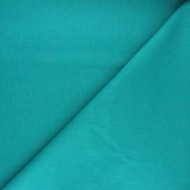 Tissu lin uni Dolce - bleu lagon x 10 cm