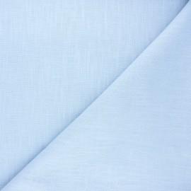 Plain linen fabric - sky blue Dolce x 10 cm