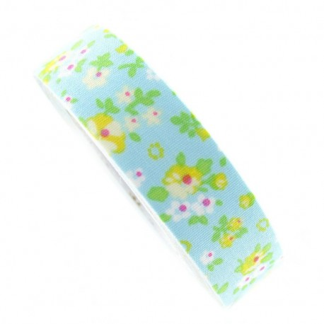 Adhesive ribbon tape, flowers - light blue