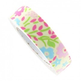 Adhesive ribbon tape, flowers - yelllow