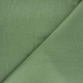Plain linen fabric - green Dolce x 10 cm