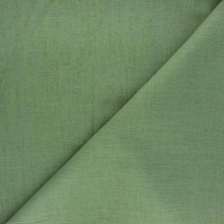 Tissu lin uni Dolce - vert x 10 cm