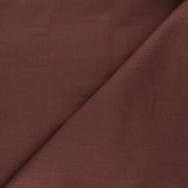 Plain linen fabric - chocolate Dolce x 10 cm