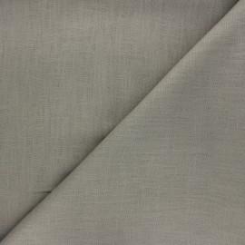 Plain linen fabric - taupe grey Dolce x 10 cm