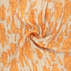 Pleated polyester fabric - sand Magnolia x 10cm