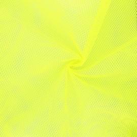 Polyester mesh fabric - neon yellow x 10cm