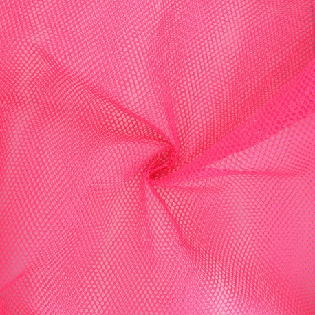 Polyester mesh fabric - neon pink x 10cm