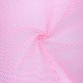 Polyester mesh fabric - light pink x 10cm