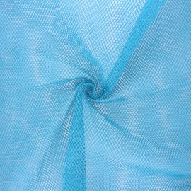 Polyester mesh fabric - blue x 10cm