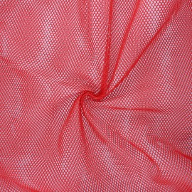 Polyester mesh fabric - red x 10cm