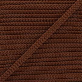 Ruban tressé Trenza 13 mm - marron x 1m