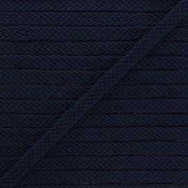 Ruban tressé Trenza 13 mm - bleu marine x 1m