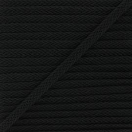 13mm braided ribbon - black Trenza x 1m