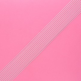Ruffled elastic - white x 1m