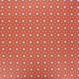 Coated cretonne cotton fabric - rust Persia x 10cm