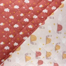 Tissu matelassé réversible Arnaud/Nube - marsala x 10cm
