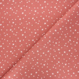 Cretonne cotton fabric - marsala Atria x 10cm