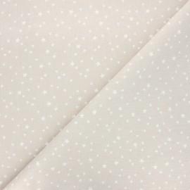 Tissu coton cretonne Atria - grège x 10cm